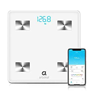 Arboleaf Bluetooth Body Fat Scale - Smart Scale Wireless Bathroom Weight  Scale with iOS, Android APP,