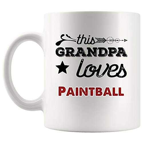 Paintball Mug Coffee Cup | Unique Mugs Gift For Women Paint guns archery outdoor game speedball