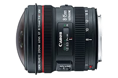 Canon EF 8-15mm f/4L Fisheye USM Ultra-Wide Zoom Lens for Canon EOS SLR Cameras by Canon