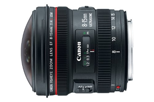 Canon EF 8-15mm f/4L Fisheye USM Ultra-Wide Zoom Lens for Canon EOS SLR Cameras