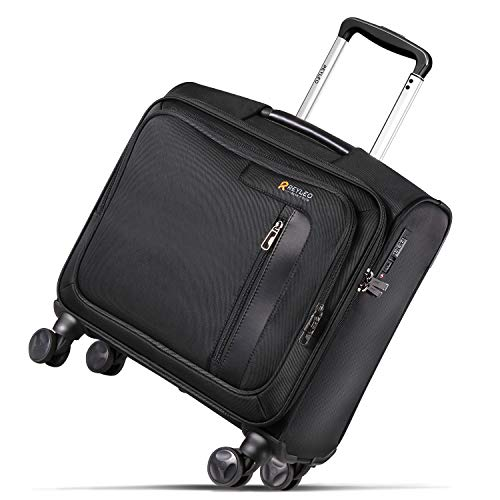 - REYLEO Rolling Briefcase on 8 Wheels Rolling Laptop Bag Rolling Computer Case Spinner Mobile Office Carry On Luggage Built-in TSA Lock for 14.1 Inch Notebook