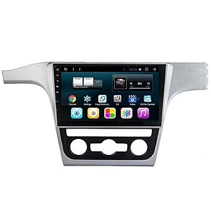 TOPNAVI 10.1 Pouces 2Din 32GB Auto Navigation pour VW Passat 2011 2012 2013 2014 2015 Android 7.1 Radio stéréo Lecteur avec Quad Core WiFi 2 Go de RAM 3G RDS Lien Miroir FM AM Bluetooth Audio Vidéo