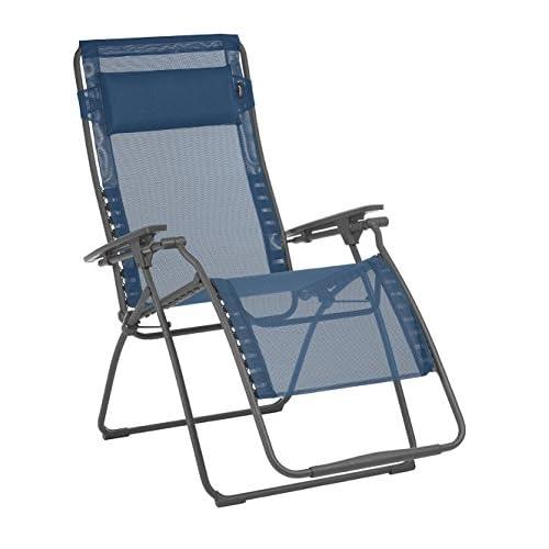 Cheap Lafuma LFM3121-8547 Futura XL Zero Gravity Recliner-Basalt Steel Frame, Ocean Batyline Fabric hot sale