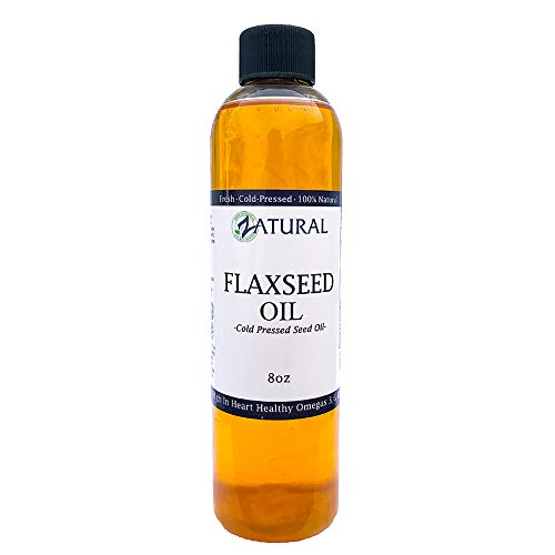 FlaxSeed Oil - 100% Pure Flax Seed Oil - 0 Additives - 0 Fillers - Cold Pressed - Unrefined (8 Ounce) ()