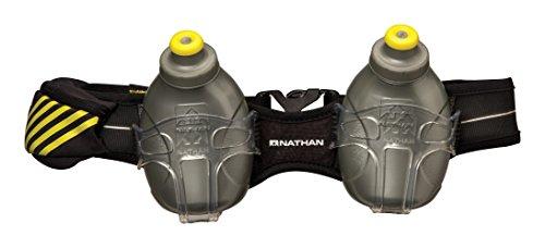Nathan Mercury 2 Bottle Hydration Belt, Black, One -
