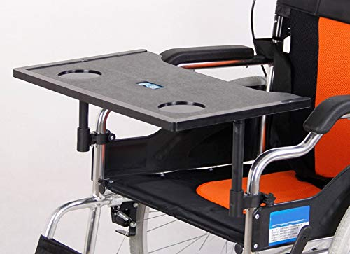 Plastic Molded Wheelchair Lap Tray with Cup Holder (Suitable for 16-18 Inch Wheelchairs)