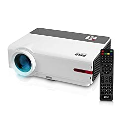 Home Theater Smart Android Video Projector HD 1080p  - 5.8'' LCD  LED Lamp Play Digital Movie with HDMI USB Android,  Remote for PC Computer TV Laptop & WiFi Access - PRJAND818 Pyle