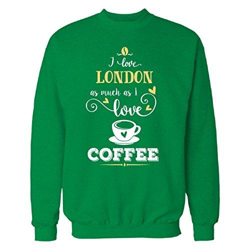 I Enjoyment London As Much As I Love Coffee Gift For him - Sweatshirt Irish_Green 5XL