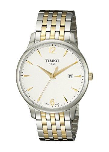 (Tissot Men's T0636102203700 Tradition Analog Display Swiss Quartz Two Tone Watch)
