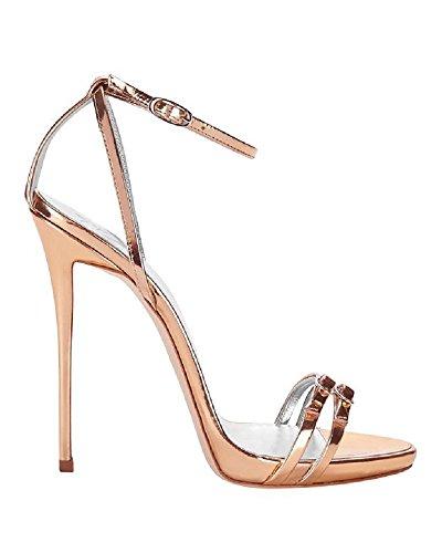 Giuseppe Zanotti Double Strap Metallic Sandals (Giuseppe Zanotti Wedding Shoes)