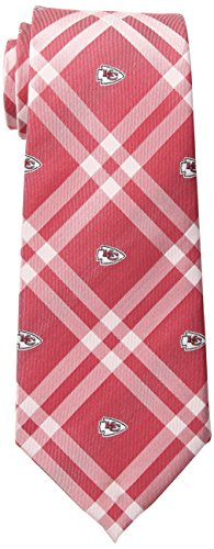 Eagles Wings NFL Kansas City Chiefs Men's Woven Polyester Rhodes Necktie, One Size, - City Tie