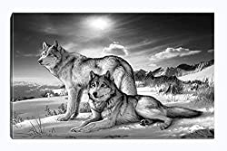 Canvas Print Wall Art Animal Painting Picture Stretched and Framed for Living Room Bedroom Bathroom Office Decor