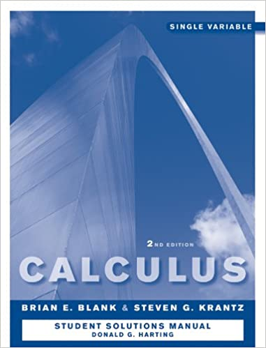 Book Calculus: Single Variable, Student Study and Solutions Companion