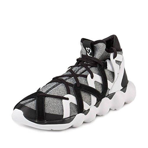 separation shoes 3bfef ec4f4 Adidas Mens Y-3 Kyujo High Black Grey-White Fabric Size 11.5