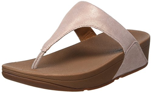 Mujer con Rose Rosa Shimmy Fitflop Plataforma Toe Gold Suede Post para Sandalias qwXWTF8w