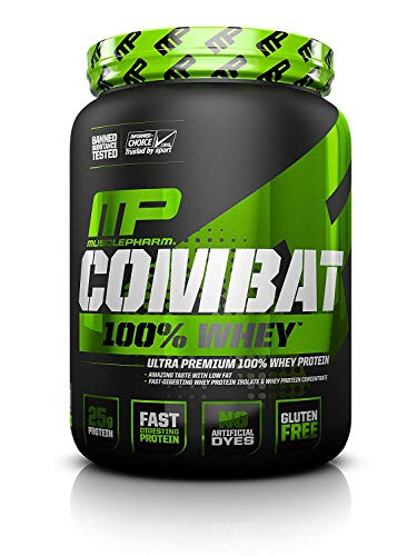 (MusclePharm Combat 100% Whey, Muscle-Building Whey Protein Powder, 25 g of Ultra-Premium, Gluten-Free, Low-Fat Blend of Fast-Digesting Whey Protein, Chocolate Milk, 5-Pound, 68 Servings)