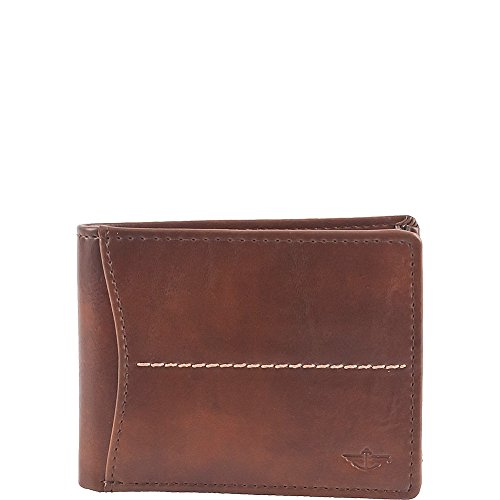 dockers-mens-soft-hand-center-stitch-extra-capacity-slimfold-wallet-cognac-one-size