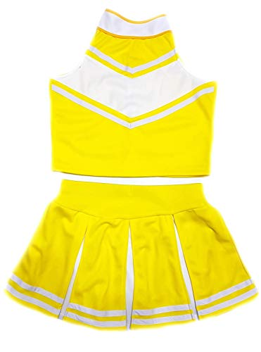 9acdeb2b5d Children/Girls' Cheerleader Cheerleading Uniform Costume Bright  yellow/White (S / 2-5)