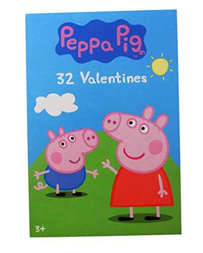 32 Peppa Pig Valentine Day Sharing Cards for Kids New 2018 Design