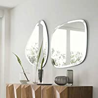 Quality Glass Frameless Decorative Mirror   Mirror Glass for Wall   Mirror for bathrooms   Mirror in Home   Mirror Decor   Mirror Size : 18 X 24 inch& 15 X 24 inch Set of 2 PCS