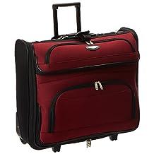 Amsterdam Rolling Garment Bag Wheeled Luggage Case - Red (23-Inch)