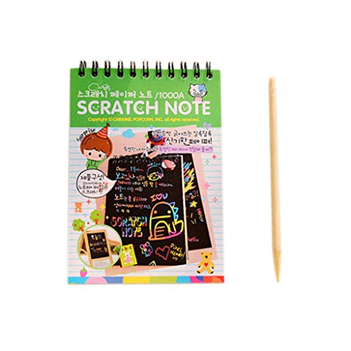 (Fun DIY Doodling Drawing Magic Scratch Painting Book Kids Learning Christmas Gift)