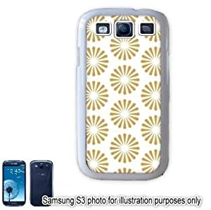 Gold Radiating Sun Bursts Pattern Samsung Galaxy S3 i9300 Case Cover Skin White