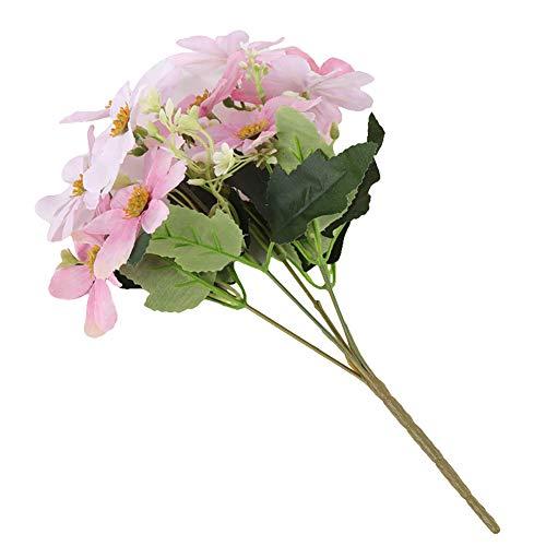 litymitzromq Artificial Flowers Fake Plants, 1Pc Handmade Artificial Flower Fake Sakura Home Garden Wedding Party Table Decor Faux Fake Flowers Floral Arrangement
