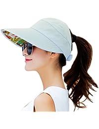 24913cc061958 Sun Hats for Women Wide Brim Sun Hat Packable UV Protection Visor Floppy  Womens Beach Cap
