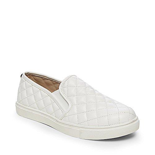 Steve Madden Women's ECENTRCQ Shoe, white, 9.5 M US