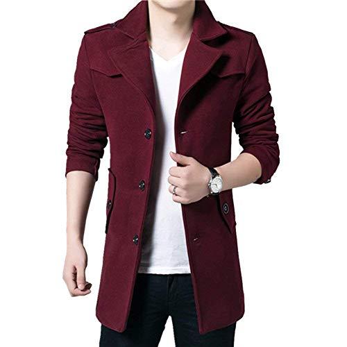 Coat Lana Uomo Autunno Lunga Giovane Giacche Di Winered Giacca inverno Trench Fashion Da Lavoro Saoye Autunno qpnAz6SIxw