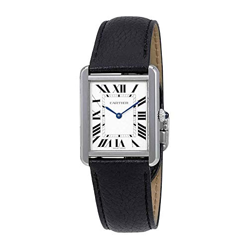 Cartier Tank Solo Steel Leather 27mm Ladies Watch WSTA0028