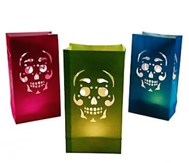 Day Of The Dead Luminary Bags - My Sugar Skulls
