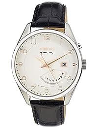 Seiko Men's SRN049 Black Calf Skin Seiko Kinetic Watch