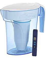 ZeroWater 7 Cup Water Filter Jug   Fridge Door Design Water Jug with 5 Stage Filtration System, Water Quality Meter and Water Filter Cartridge Included