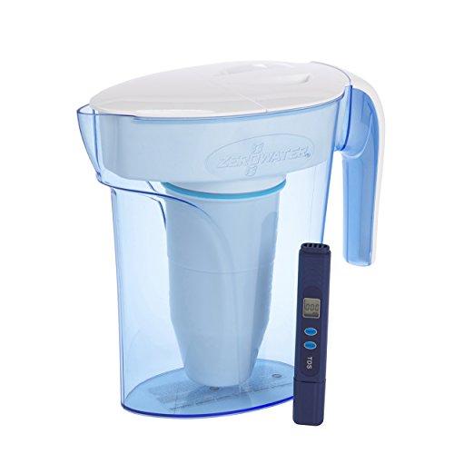 ZeroWater 7 Cup Water Filter Jug | Fridge Door Design Water Jug with 5...