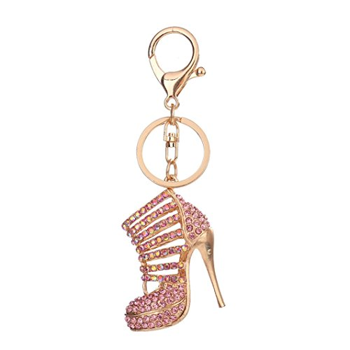 Celendi_Jewelry Hot Sale Key Chain Crystal Rhinestone Keyring