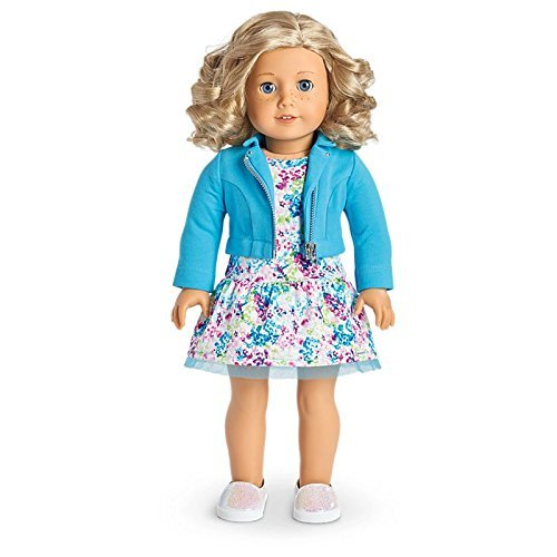 Blonde Girl Game (American Girl Truly Me Doll #56 - Blue Eyes, Curly Blond Hair, Light Skin Tone with Freckles)