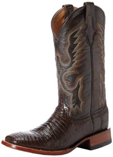 Ferrini Men's Teju Lizard S-Toe Western Boot,Chocolate,10.5 D US