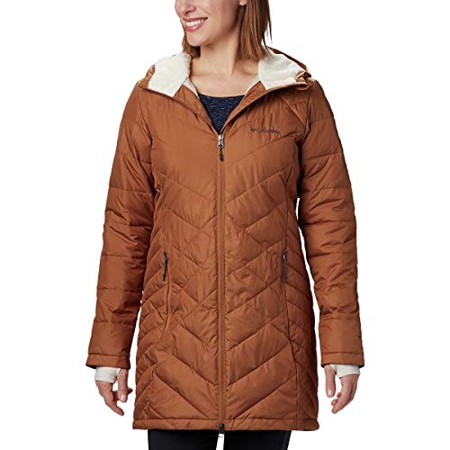 Columbia Women's Heavenly Long Hooded Jacket, Camel Brown, X-Large