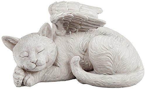 Design Toscano QL6080 Gedenkstein für Katzen Grabmal Engel Statue