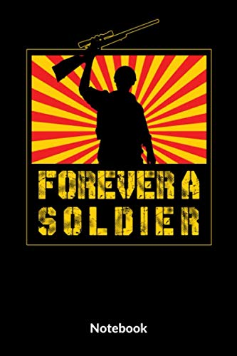 Forever A Soldier Notebook: A5 Kariertes Notizbuch