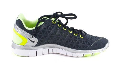 Nike Wmns Free Tr Fit 2 Scarpe Da Allenamento Da Donna Argento Nero 487789-006 Nero / Argento Metallizzato / Lime Liquido