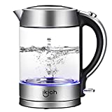 Best Glass Electric Tea Kettles - Electric Kettle, IKICH 1.7L BPA-Free Glass Kettle Tea Review
