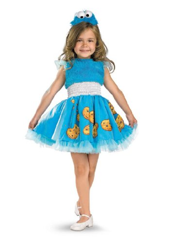 Frilly Cookie Monster Costume - Toddler Small