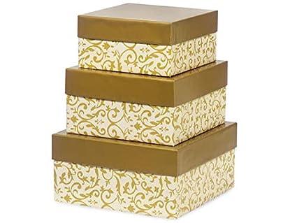 Caja de regalo Set – Florentino Glorafilia oro anidado caja (3 paquetes de 3 cajas anidadas) – wraps-nb3lftg: Amazon.es: Amazon.es