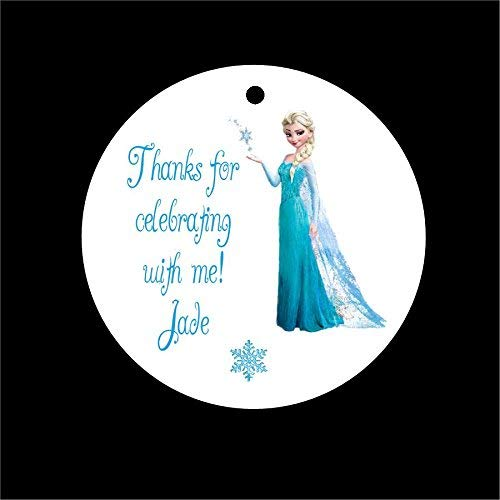 Set of 10 Frozen Elsa Birthday Party Favor Tags, Gift Favor -