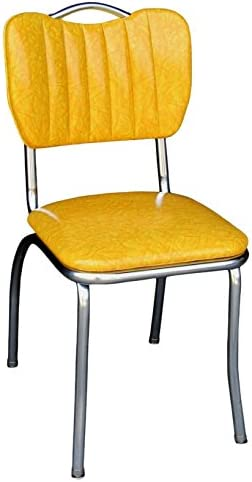 Richardson Seating Single Tone Channel Handle Back Retro Kitchen Chair
