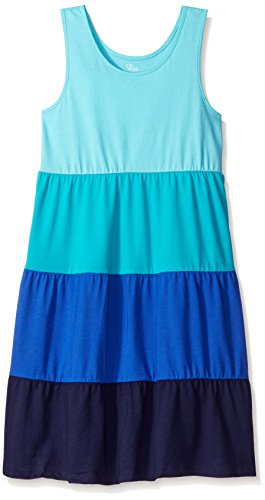 The Children's Place Little Girls' Colorblock Tank Dress, Sea Frost, Small/5/6