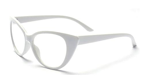 ALWAYSUV Vidrios de la manera del vintage Marco del metal Vidrios claros de la lente Vidrios jovenes